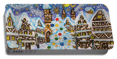 Christmas In Europe Portable Battery Charger by Irina Afonskaya