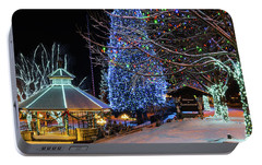 Portable Battery Charger featuring the photograph Christmas In Leavenworth by Dan Mihai