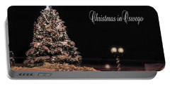 Portable Battery Charger featuring the photograph Christmas In Oswego by Everet Regal