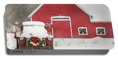 Christmas In Vermont Portable Battery Charger