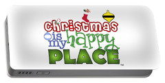 Christmas Is My Happy Place Portable Battery Charger by Shelley Overton