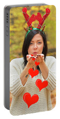 Portable Battery Charger featuring the photograph Christmas Kisses.. by Nina Stavlund