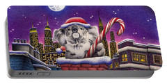 Christmas Koala In Chimney Portable Battery Charger