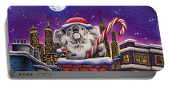 Christmas Koala In Chimney Portable Battery Charger