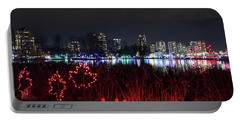 Christmas Lights At Lafarge Lake In City Of Coquitlam Portable Battery Charger