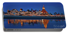 Christmas Lights At The Hotel Del Coronado Portable Battery Charger