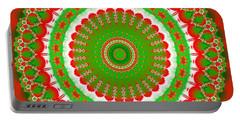 Christmas Mandala Fractal 001 Portable Battery Charger