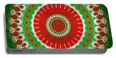 Christmas Mandala Fractal 003 Portable Battery Charger