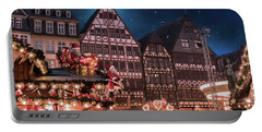 Portable Battery Charger featuring the photograph Christmas Market by Juli Scalzi