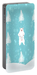 Christmas Dawn - White Bear Portable Battery Charger