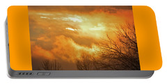 Portable Battery Charger featuring the photograph Christmas Morning Sunrise by Diane Alexander