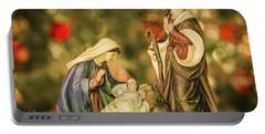 Christmas Nativity Portable Battery Charger by John Roberts