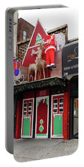 Christmas On Sherman Avenue  Portable Battery Charger by Cole Thompson