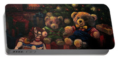 Portable Battery Charger featuring the painting Christmas Past by Karen Ilari