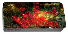 Christmas Red Portable Battery Charger