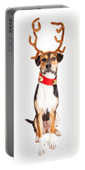 Christmas Reindeer Dog Tall Banner Portable Battery Charger