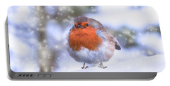 Portable Battery Charger featuring the photograph Christmas Robin by Scott Carruthers