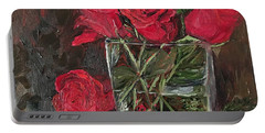 Christmas Roses Portable Battery Charger