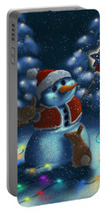 Portable Battery Charger featuring the painting Christmas Season by Veronica Minozzi