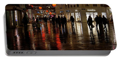 Portable Battery Charger featuring the photograph Christmas Shopping by Inge Riis McDonald