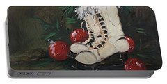 Christmas Skates Portable Battery Charger by Terri Einer