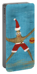 Christmas Starfish Portable Battery Charger by Jamie Frier