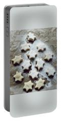 Christmas Stars Portable Battery Charger by Marija Djedovic