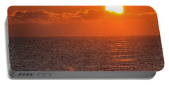 Christmas Sunrise On The Atlantic Ocean Portable Battery Charger by Sumoflam Photography