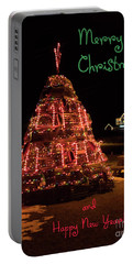 Christmas Time At Nubble Light Portable Battery Charger by Patrick Fennell