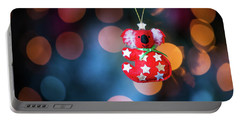 Christmas Tree Decoration With Bokeh Portable Battery Charger