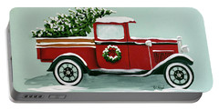 Christmas Tree Farm Sign  Portable Battery Charger