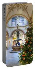 Christmas Tree In Ferstel Passage Vienna Portable Battery Charger
