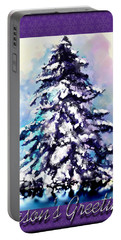 Christmas Tree Portable Battery Charger by Susan Kinney