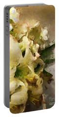 Christmas White Flowers Portable Battery Charger