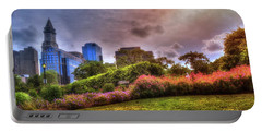 Portable Battery Charger featuring the photograph Christopher Columbus Park - North End Boston by Joann Vitali