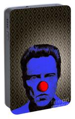 Portable Battery Charger featuring the drawing Christopher Walken 1 by Jason Tricktop Matthews