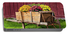 Chrysanthemum Cart Portable Battery Charger by Alan L Graham
