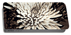 Portable Battery Charger featuring the photograph Chrysanthemum In Sepia 2  by Sarah Loft