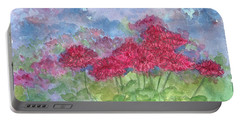 Portable Battery Charger featuring the painting Chrysanthemums by Cathie Richardson
