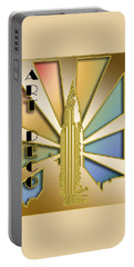 Portable Battery Charger featuring the digital art Chrysler Building - Chuck Staley by Chuck Staley