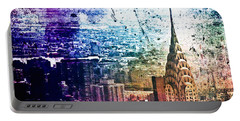 Chrysler Building - Colorful - New York City Portable Battery Charger