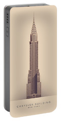 Chrysler Building - Full Portable Battery Charger by Ivan Krpan