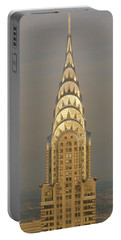 Chrysler Building New York Ny Portable Battery Charger by Panoramic Images