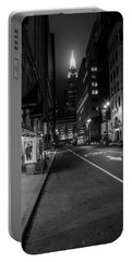 Chrysler Building Nyc And Street Portable Battery Charger