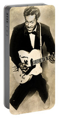 Portable Battery Charger featuring the digital art Chuck Berry by Anthony Murphy