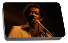 Chuck Berry Gold Portable Battery Charger by Paul Meijering