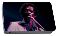Chuck Berry Portable Battery Charger by Paul Meijering