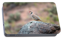 Portable Battery Charger featuring the photograph Chukar Partridge 2 by Leland D Howard