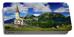 Church And Waterfall Portable Battery Charger