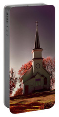 Church At Sunset Portable Battery Charger